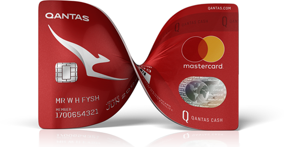 Qantas cash bow card