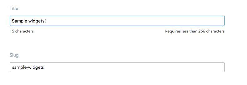 Slug generator extension screenshot