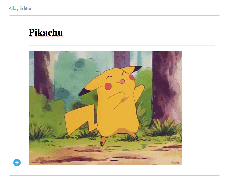 Rich text editor extension screenshot
