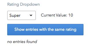 Basic rating dropdown extension screenshot