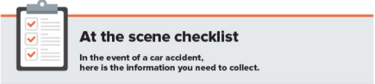 What to do in a car accident checklist
