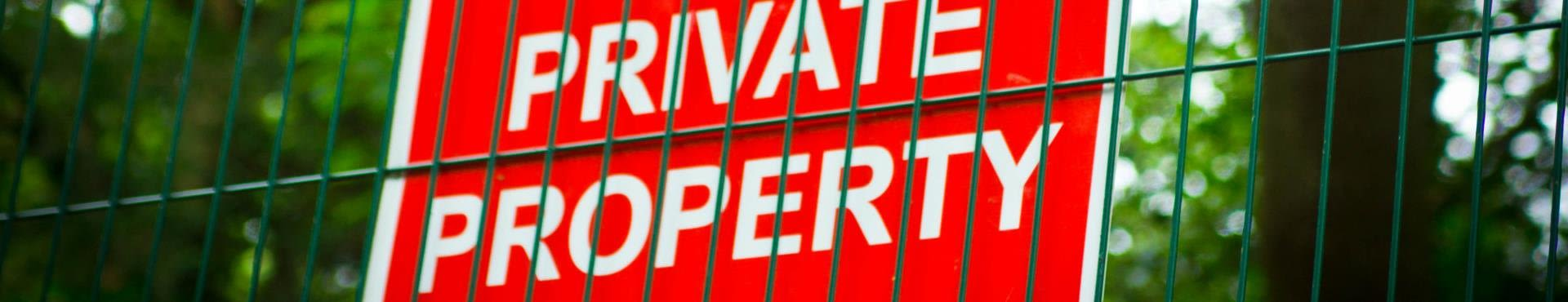 Shine Lawyers | Private property sign on gate | Shine Lawyers