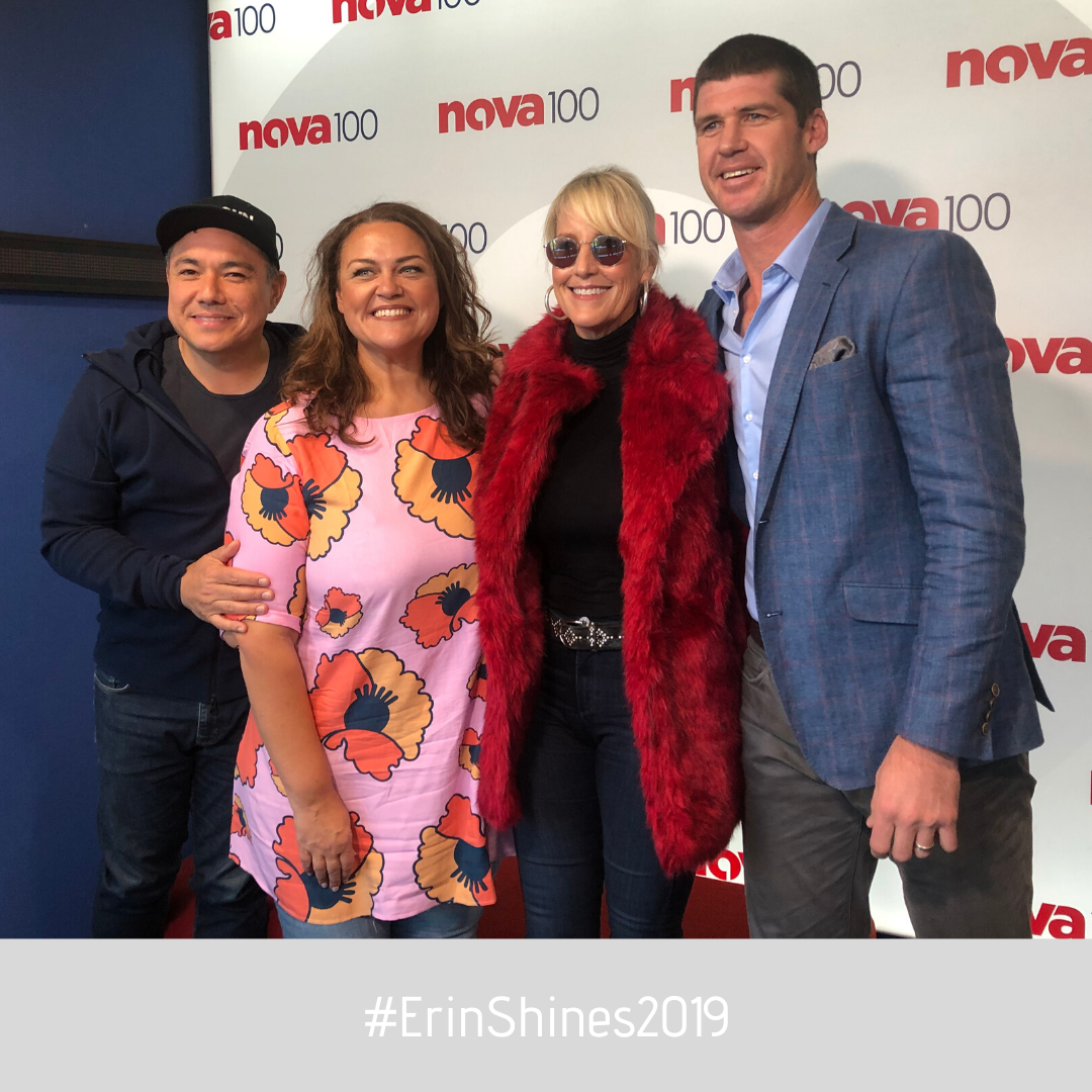 Shine Lawyers | Erin with the crew from Nova in Melbourne