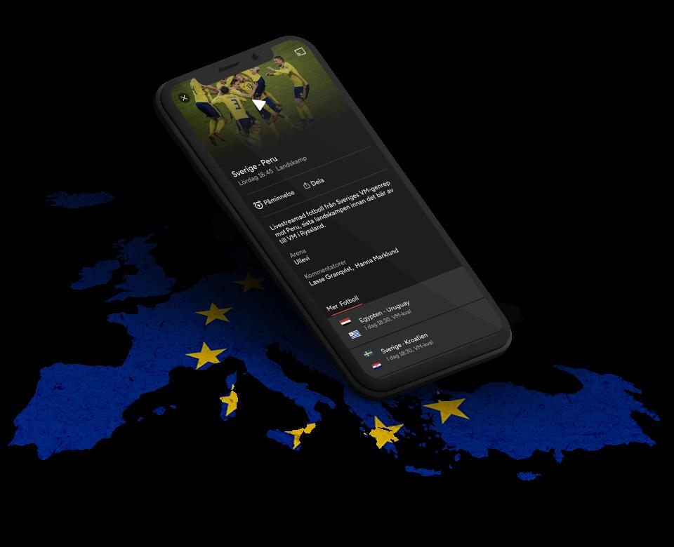 Streama inom EU när du är på semester