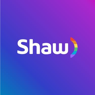 Shaw logo with pride colours