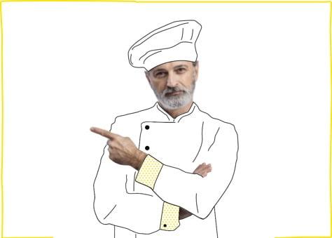 Cocinero pensando en contratar una de nuestras tarifas móviles para negocios