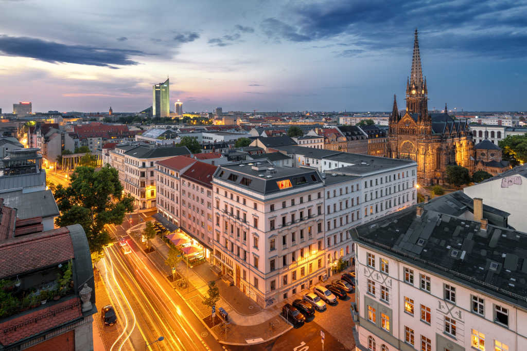View on Leipzig - the attractive metropolis in eastern Germany