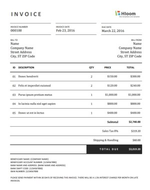 Photography Invoices Templates And How To Make Your Own