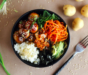 Vegan Korean foods