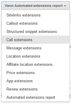 Select-call-extensions-from-the-drop-down