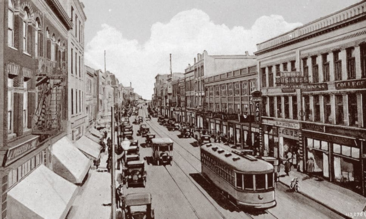 Historic street view of King Street in Old Berlin