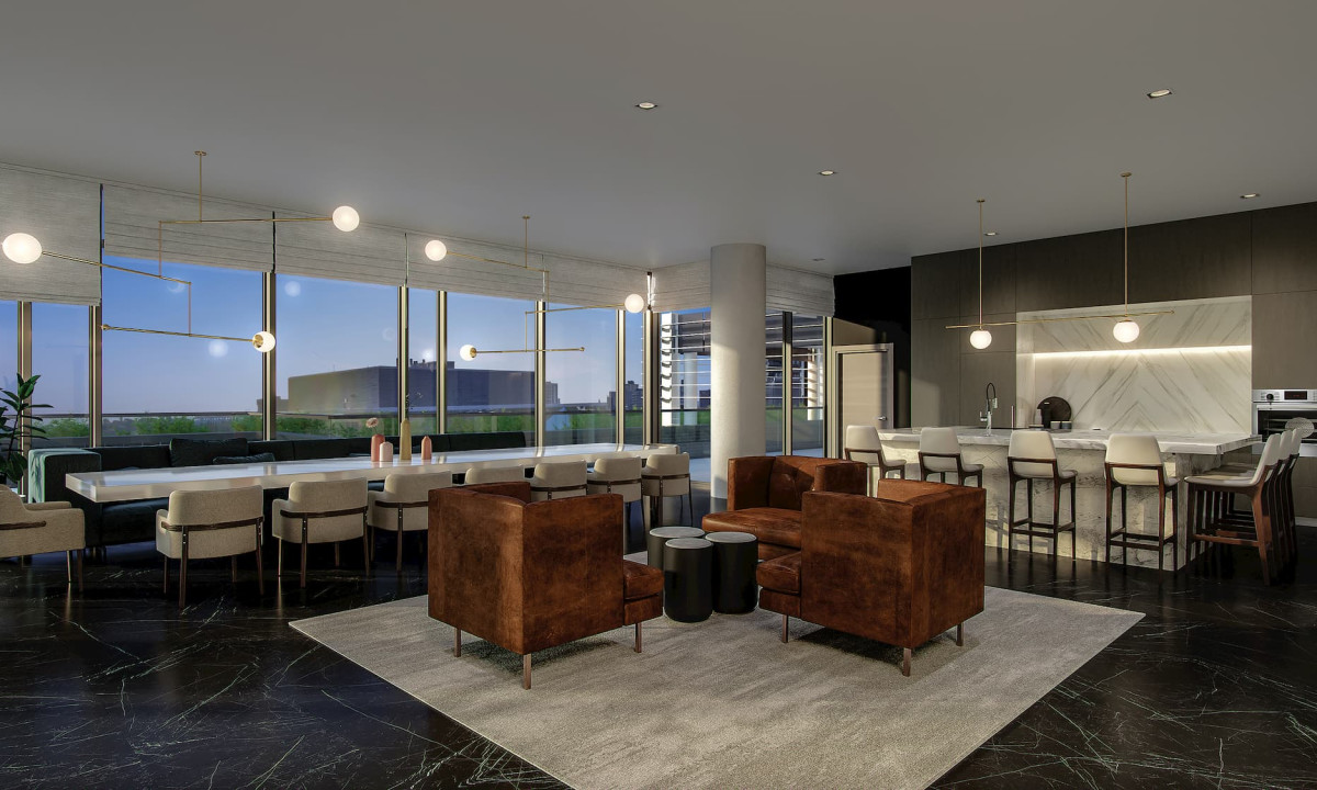Rendering of the private party room at Union Towers