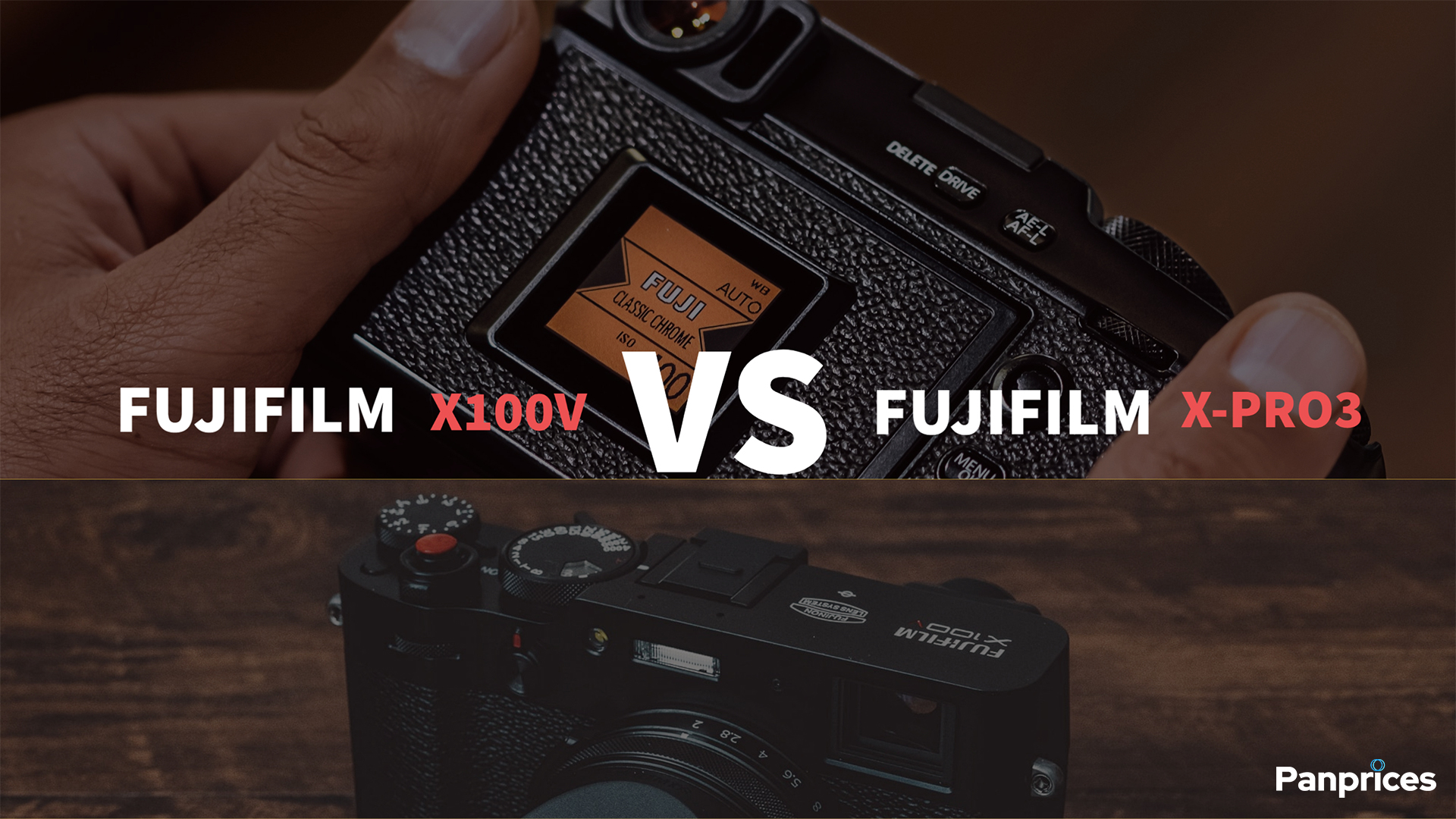 Fujifilm X100V VS Fujifilm X-Pro3
