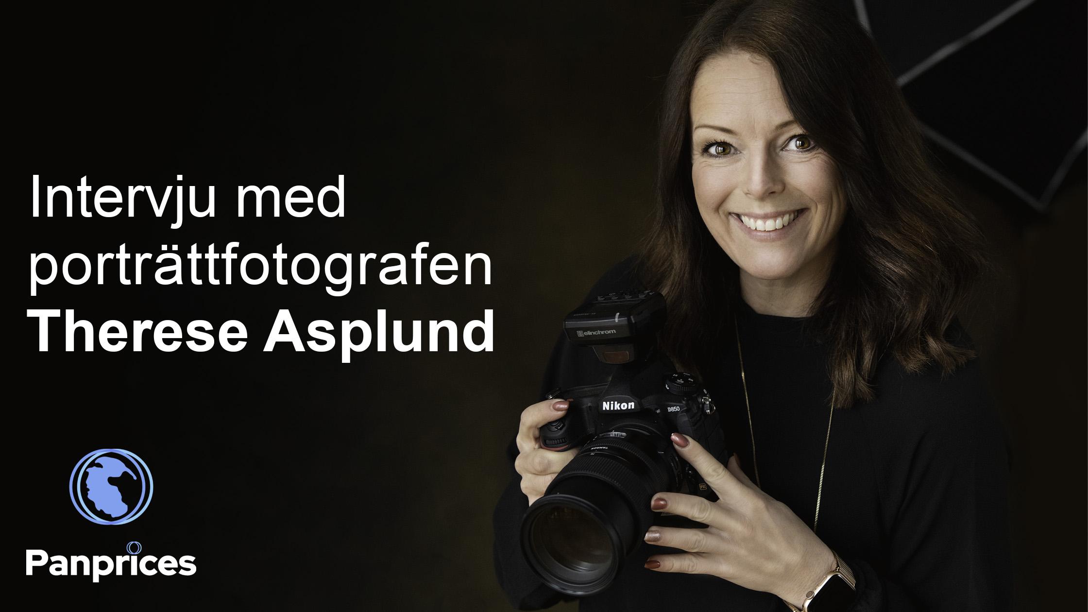 Intervju med porträttfotografen Therese Asplund