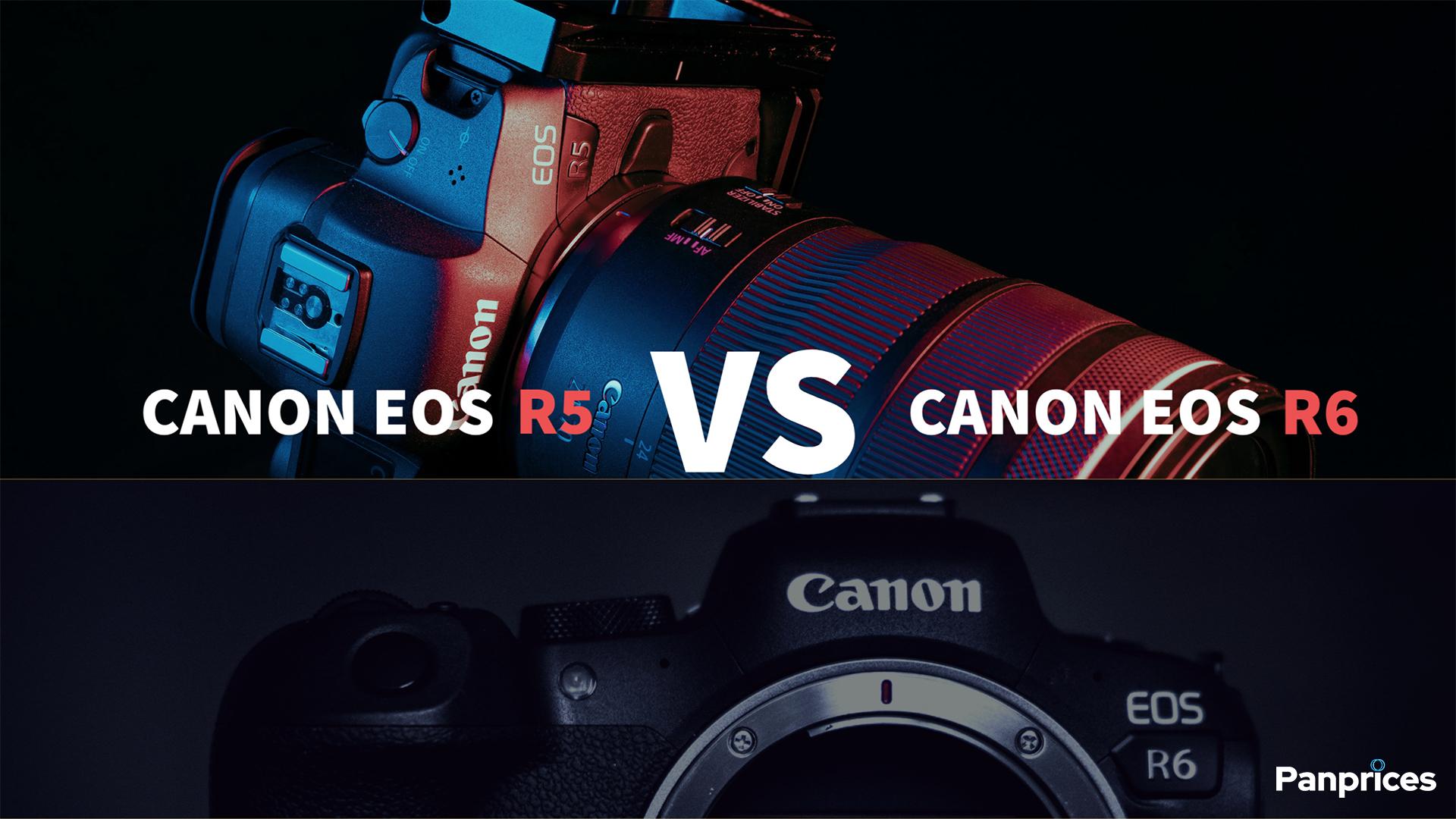 Canon EOS R5 jämfört med Canon EOS R6