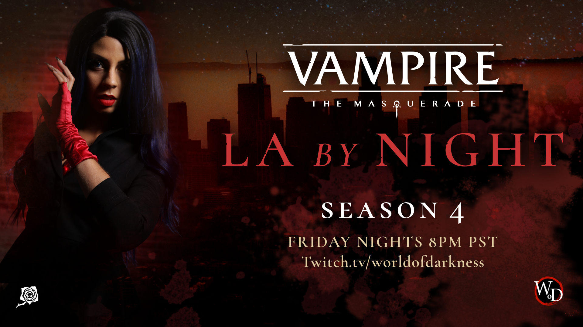 LA by Night Season 4 Kicks Off new World of Darkness streaming channel on Twitch!