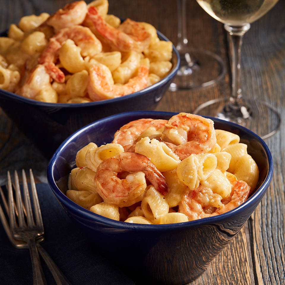 smoked cheddar mac and cheese with shrimp recipe quality products