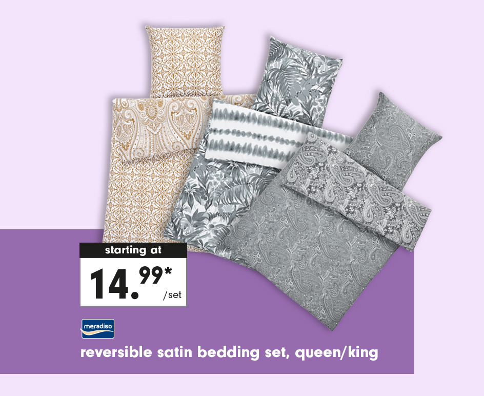 Lidl Grocery Store Reversible Satin Bedding