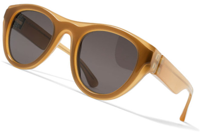 Mykita + Maison Margiela brown sunglasses
