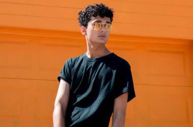 Adolescent, Porter, lunettes soleil