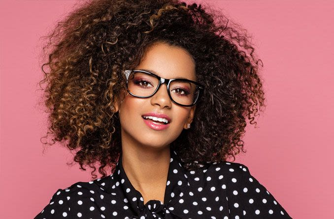 African American woman wearing glasses