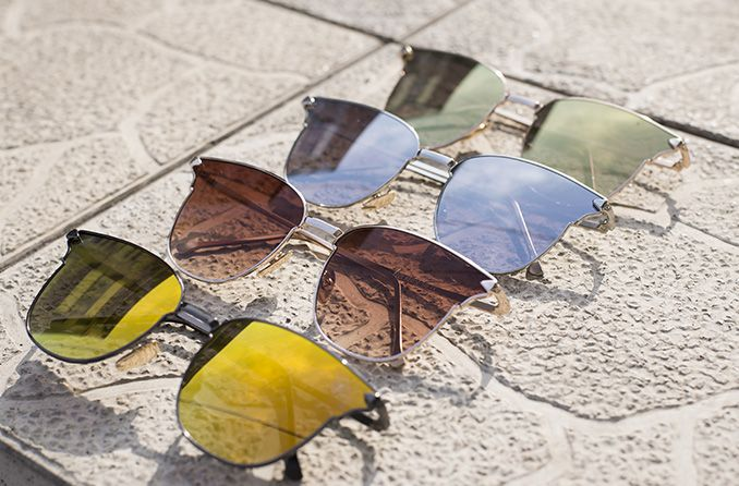 Why different lens color in sunglasses?