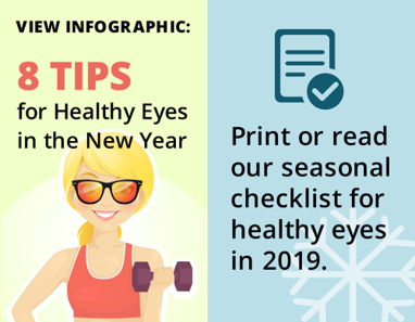 Promo: 8 Tips for Healthy Eyes infographic and pdf checklist