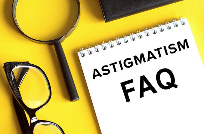 pad of note paper with astigmatism faqs