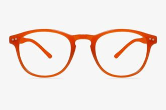 Square Orange Eyeglass Frames