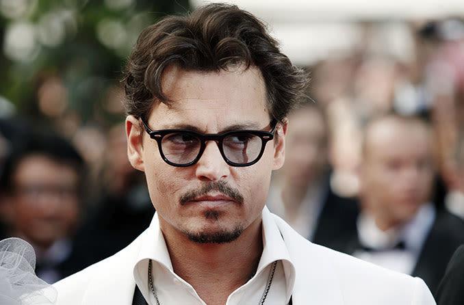 Johnny Depp wearing eyeglasses