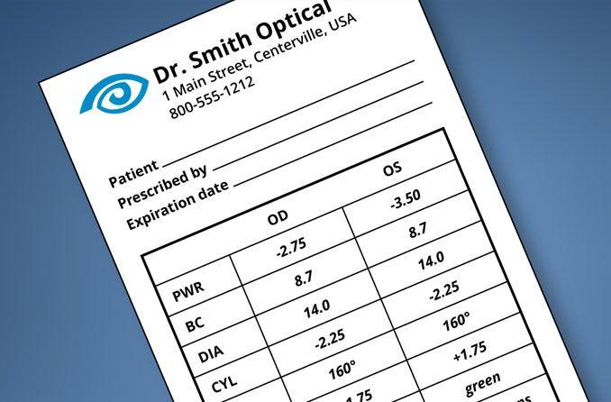 Understanding your contact lens prescription