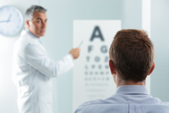 Modified Eye exam for visually impared