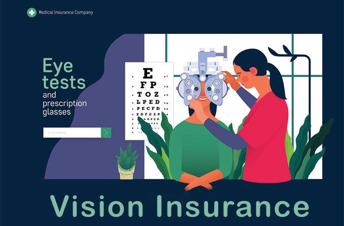 illustration of an eye test covered by vision insurance