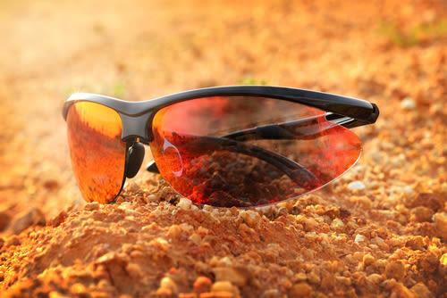 óculos de sol esportivos com matiz de desempenho