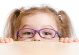 young girl wearing eyeglasses