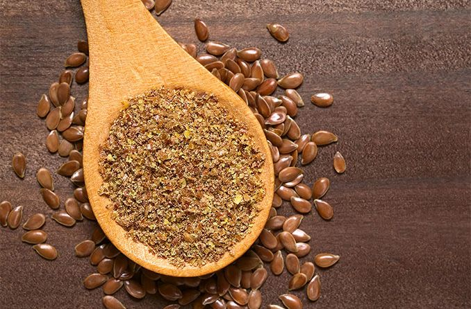 spoonful of ground flaxseed for good eye health