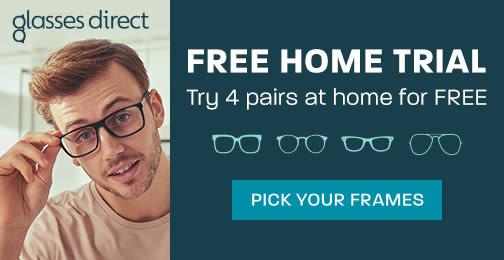 Glasses Direct UK ad