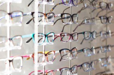 rangées de lunettes