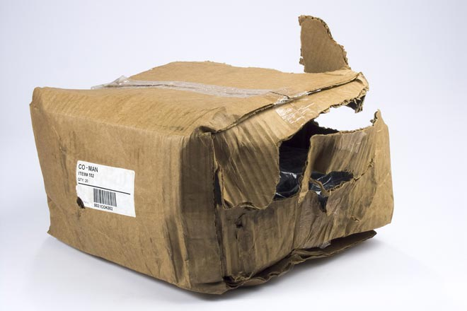 Torn package