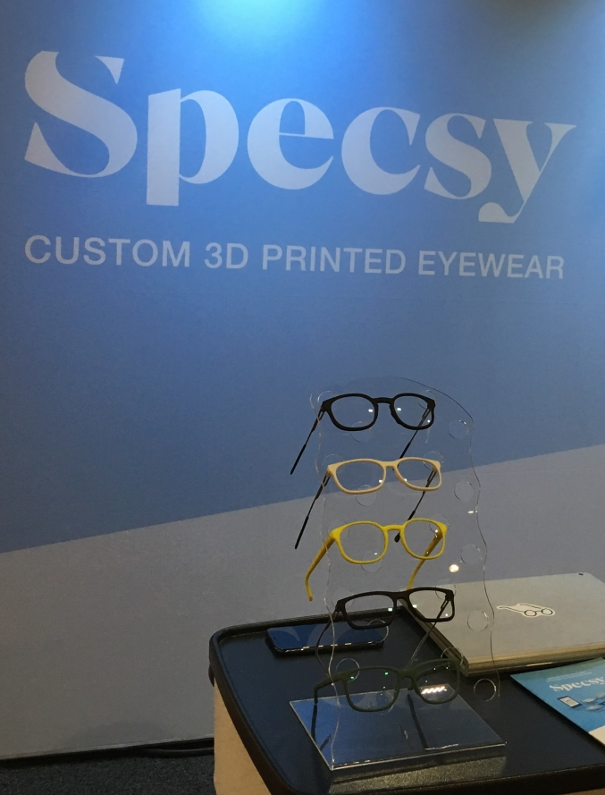 Specsy 3-D printed glasses