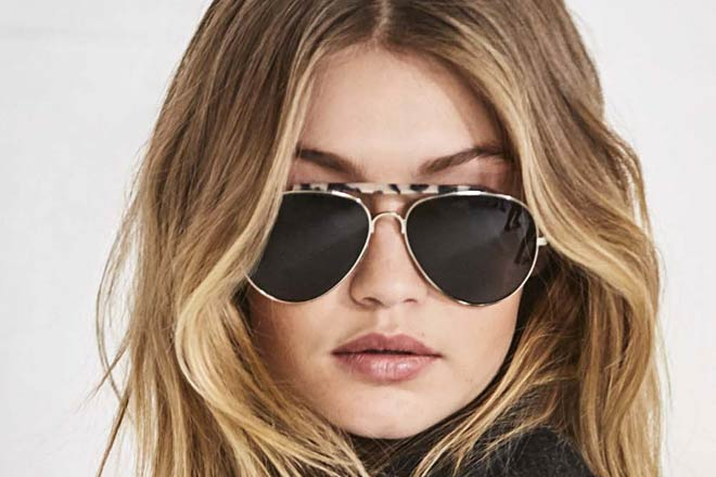 Gigi Hadid wearing sunglasses