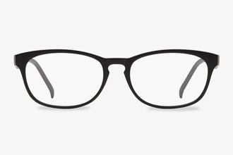 Rectangle Matte Black Eyeglass Frames