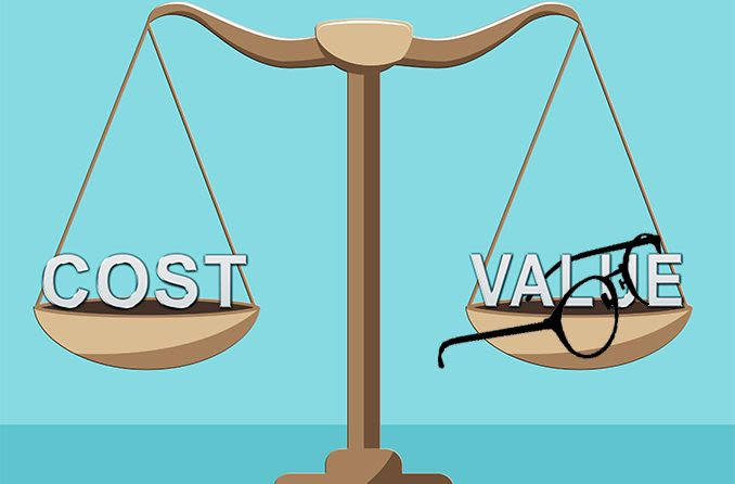 weighing the cost vs value for eyeglasses