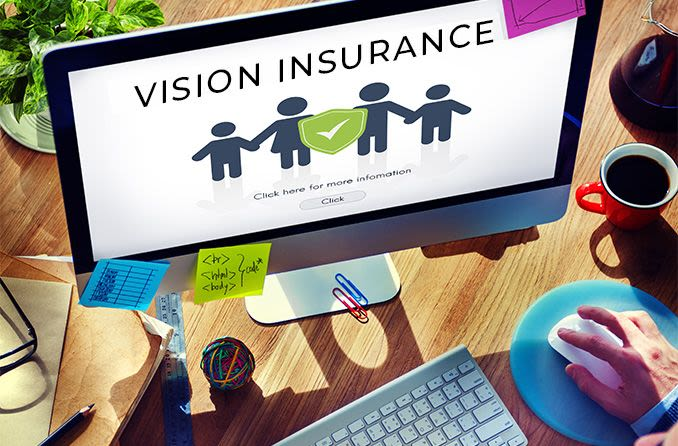 vision insurance family coverage on desktop computer screen