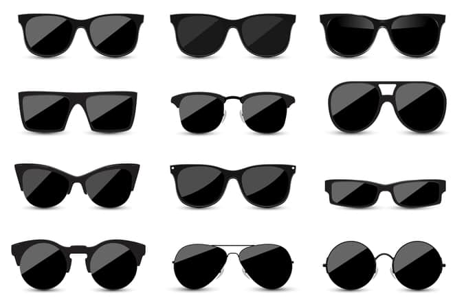 Black sunglasses in 12 of the most popular styles