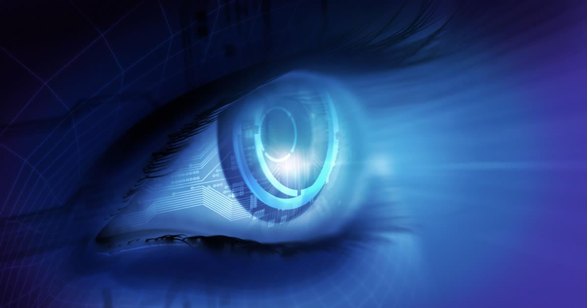 ilustración de ojo biónico