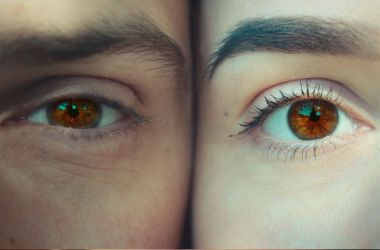 Man and woman with brown eyes.
