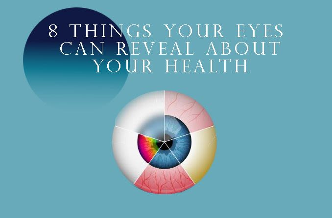 illustration of an eyeball with revealing health problems