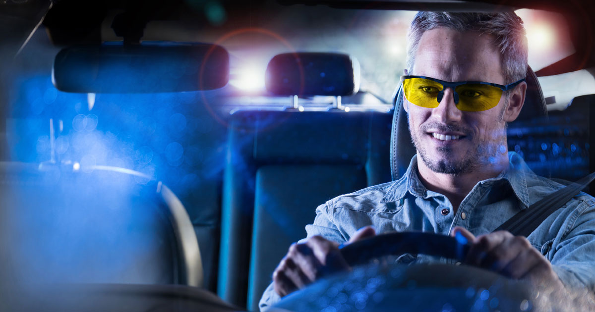 lunettes de conduite de nuit anti-éblouissement
