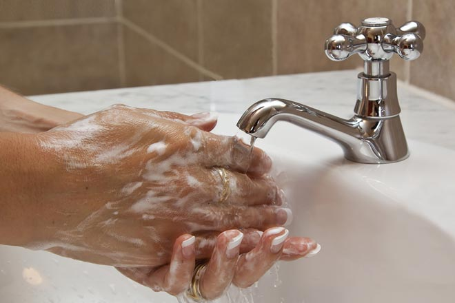 washing hands to be clean to prevent eye infections